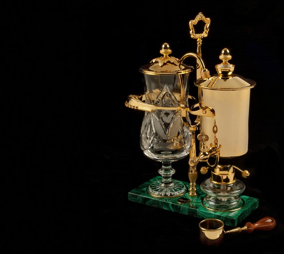 royal coffee maker green base The Art of Coffee Brewing Fit for Royalty by Royal Paris - EAT LOVE SAVOR International Luxury Lifestyle Magazine