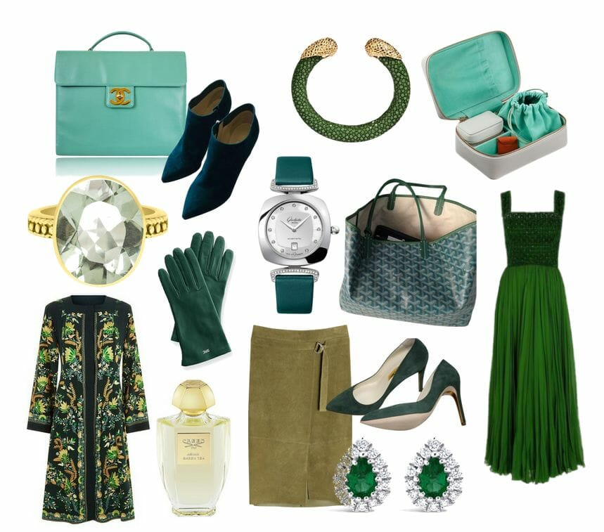 green color story and edit Editor Selects: Fresh and Elegant Seasonless Fashion Color Story of Greens - EAT LOVE SAVOR International luxury lifestyle magazine and bookazines