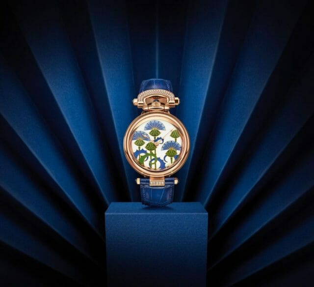 bovet blue burdocks Flowers and Fields Adorn Beautiful BOVET 1822 Timepieces - EAT LOVE SAVOR International luxury lifestyle magazine, bookazines & luxury community