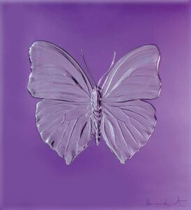 Eternal Beauty Damien Hirst for Lalique purple crystal limited edition All bow for the SuperYacht Gallery at Saatchi London - EAT LOVE SAVOR International luxury lifestyle magazine, bookazines & luxury community