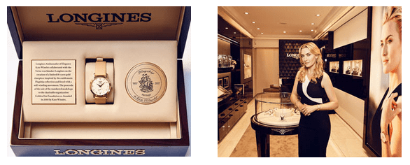 Kate Winslet Longines Kate Winslet Launches the Exclusive Flagship Heritage by Kate Winslet Timepiece in Paris - EAT LOVE SAVOR International Luxury Lifestyle Magazine