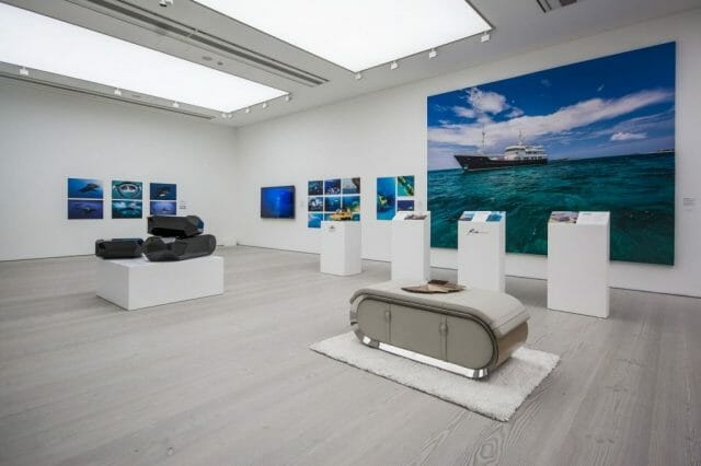 superyacht art display All bow for the SuperYacht Gallery at Saatchi London - EAT LOVE SAVOR International luxury lifestyle magazine, bookazines & luxury community