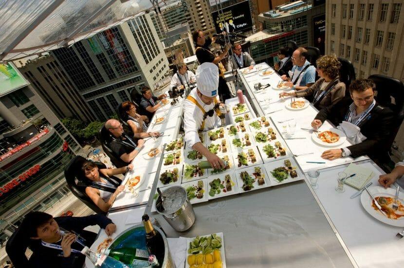 dinner in the sky chef A Collision of Gastronomic Sparks 50m Above Monaco: Dinner in the Sky® - EAT LOVE SAVOR International Luxury Lifestyle Magazine