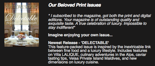 delectable issue promo Distilling the Essence: The AmaWaterways Wine-Themed Cruise - EAT LOVE SAVOR International luxury lifestyle magazine, bookazines & luxury community