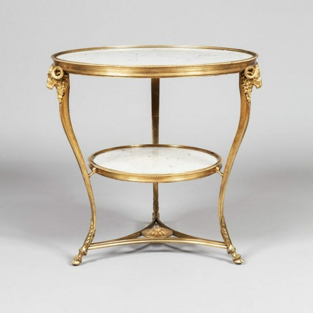 Marble and Ormolu Gueridon, Furniture and Decoration in the Louis XVI Style