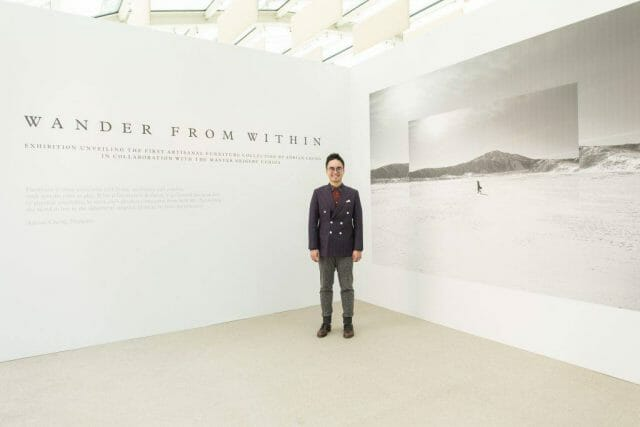 Adrian with main backdrop Disruption, Innovation and Fusion: An Interview With Adrian Cheng - EAT LOVE SAVOR International luxury lifestyle magazine and bookazines