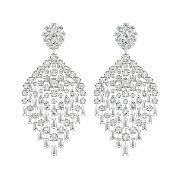 Harakh dangling earrings Discover High Jewellery Impressos 'Harakh' Symbolistic Diamond Peacock Collection - EAT LOVE SAVOR International luxury lifestyle magazine and bookazines