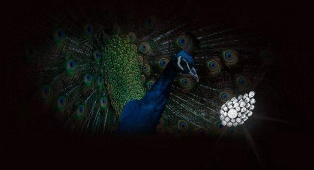 peacock and diamonds Discover High Jewellery Impressos 'Harakh' Symbolistic Diamond Peacock Collection - EAT LOVE SAVOR International luxury lifestyle magazine and bookazines