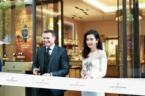 Carl F Bucherer Boutique Opening Shanghai Ribbon cut Sascha Moeri and Li Bingbing Golden Moment for Carl F. Bucherer in Shanghai with Exclusive Boutique Opening - EAT LOVE SAVOR International luxury lifestyle magazine, bookazines & luxury community