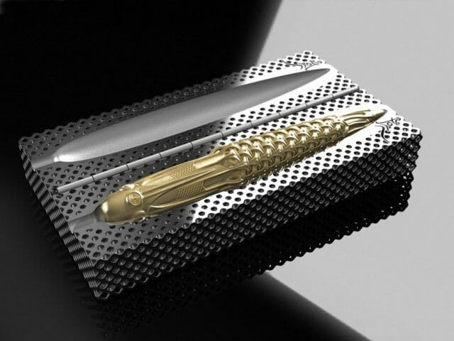 Pjotr SVgold Box fountain pen Inspired 3D Printed Limited Edition Solid Gold Fountain Pens and Nibs - EAT LOVE SAVOR International luxury lifestyle magazine and bookazines