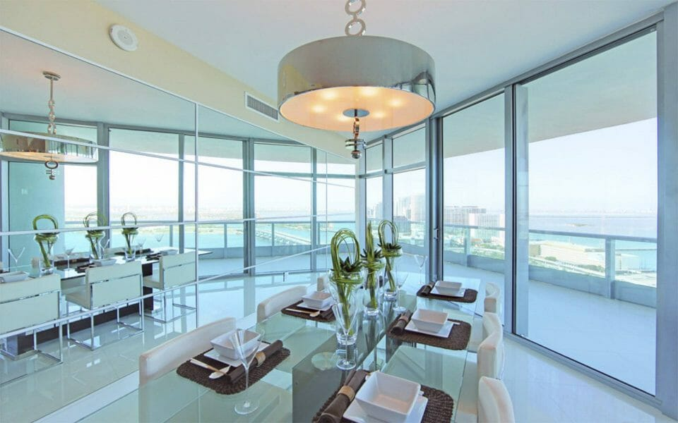 biscayne dining room Luxury Living in Florida: 5 Property Listings for Luxe Beach Lifestyle - EAT LOVE SAVOR International luxury lifestyle magazine and bookazines