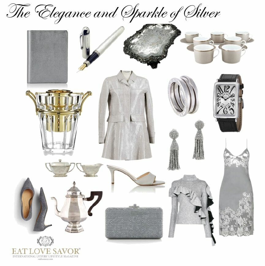 elegance sparkle of silver Style Edit: Elegant Sparkling Silver - EAT LOVE SAVOR International luxury lifestyle magazine, bookazines & luxury community
