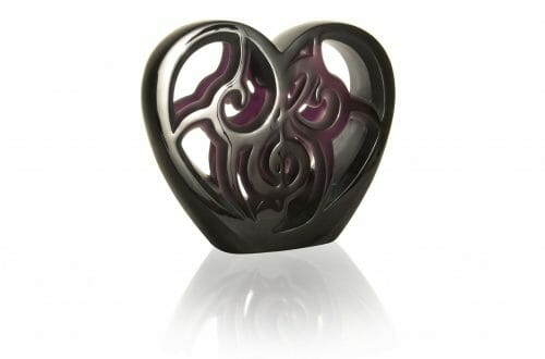 HD MUSIC IS LOVE HEART lost wax unique piece purple crystal image1©Lalique 2018 One-Of-A-Kind LALIQUE Crystal Piece Raises $ 80,000 USD At Elton John Academy Awards Viewing Party - EAT LOVE SAVOR International luxury lifestyle magazine, bookazines & luxury community