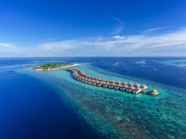 Hurawalhi Aerial 2 preview Finding Zen 5.8 Meters Below the Sea's Surface at Hurawalhi Island Resort - EAT LOVE SAVOR International luxury lifestyle magazine and bookazines