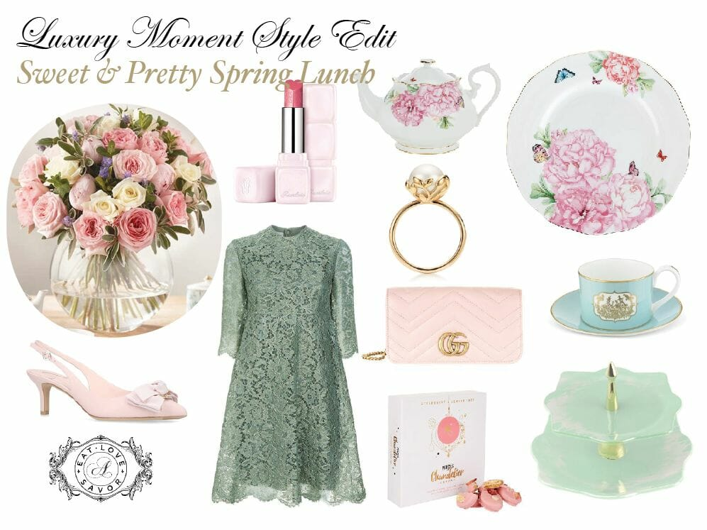 sweet and pretty spring lunch Luxury Moments Style Edit: Sweet and Pretty Spring Lunch - EAT LOVE SAVOR International Luxury Lifestyle Magazine