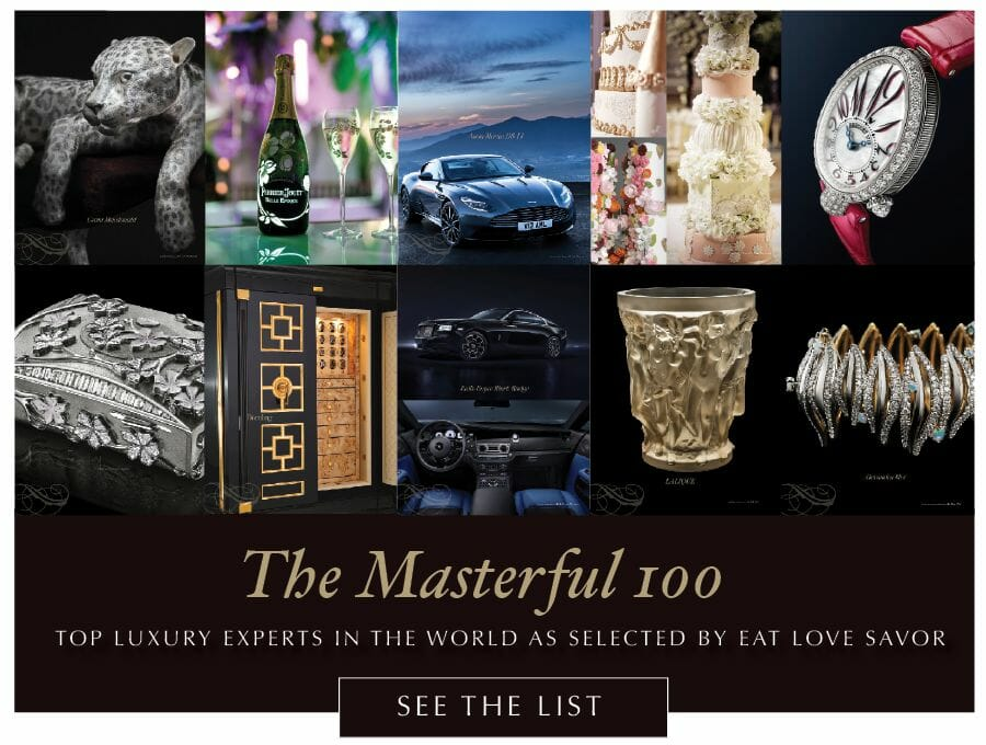 masterful 100 art 2018 1 The Masterful 100: Top 100 Luxury Experts and Brands List - EAT LOVE SAVOR International luxury lifestyle magazine and bookazines