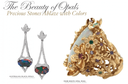 the beauty of opals Gemstone Edit: Opals: Precious Stones Ablaze with Color - EAT LOVE SAVOR International luxury lifestyle magazine, bookazines & luxury community