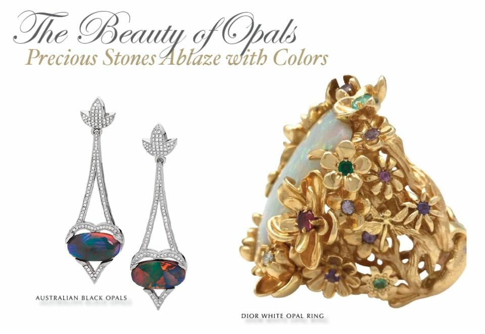 the beauty of opals Gemstone Edit: Opals: Precious Stones Ablaze with Color - EAT LOVE SAVOR International luxury lifestyle magazine and bookazines