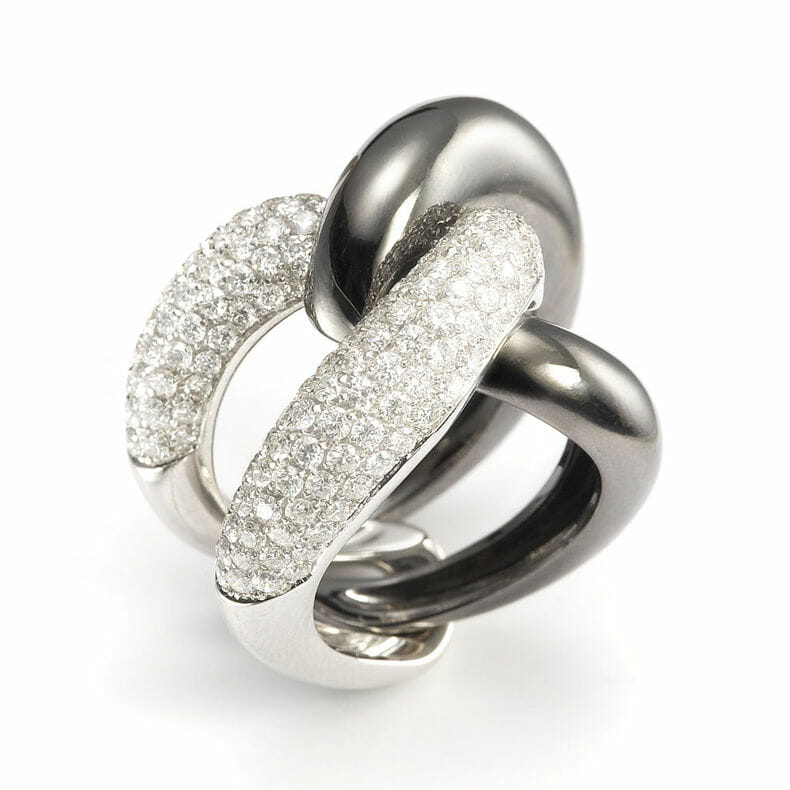 Mattioli yin and yang ring man10900b banner center 1 Weft and Woven Mattioli Timeless Contemporary Rings Made in Italy - EAT LOVE SAVOR International Luxury Lifestyle Magazine