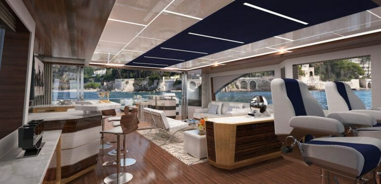 90r enc interior24 The Revolution Will Not Be Televised. Discover Ocean Alexander Superyachts - EAT LOVE SAVOR International luxury lifestyle magazine and bookazines