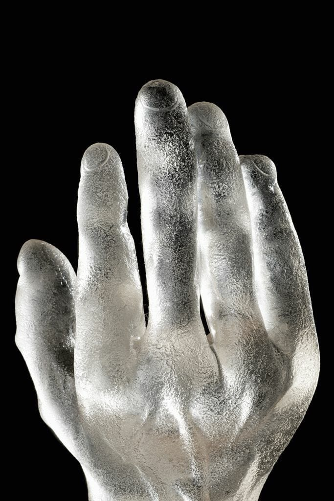 Alfredo Barbini Corosso Hand 1948 Fire & Light: Highlights From The Cenedese Archive, a Collection Of Rare Murano Glass Designs - EAT LOVE SAVOR International Luxury Lifestyle Magazine
