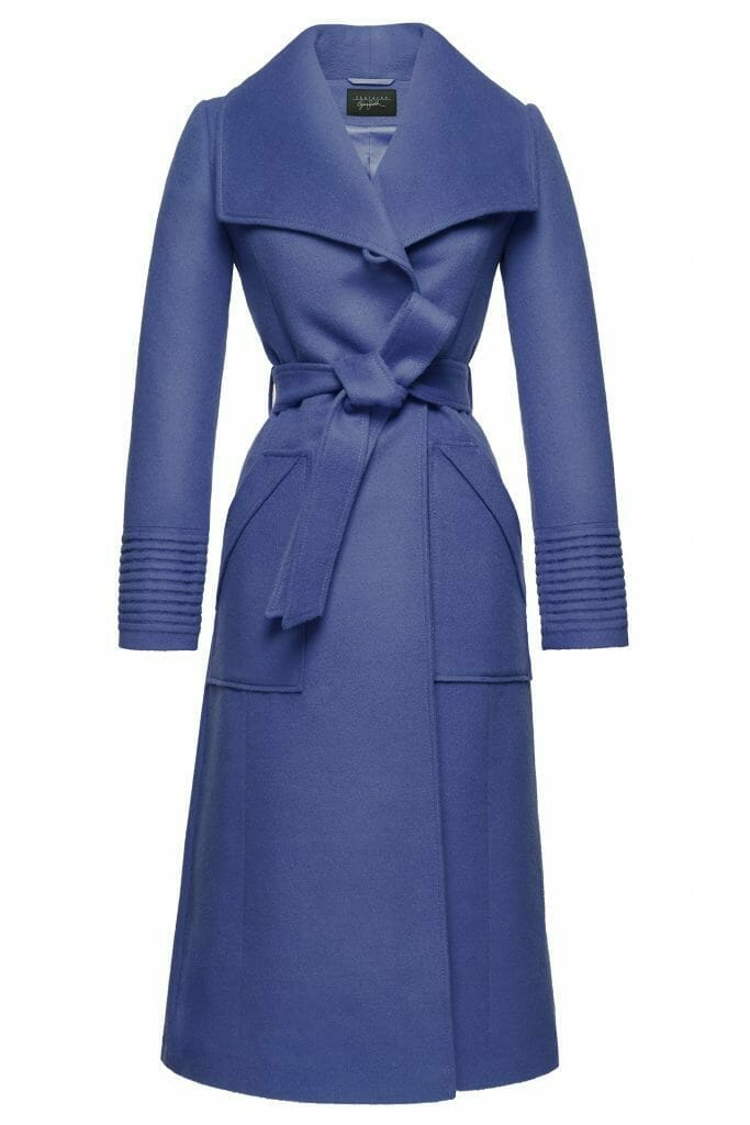 Sentaler Luxury Outerwear Long Wide Collar Wrap Coat True Blue Off Figure Gift Guide of Splendidly Beautiful Things and Experiences - EAT LOVE SAVOR International Luxury Lifestyle Magazine