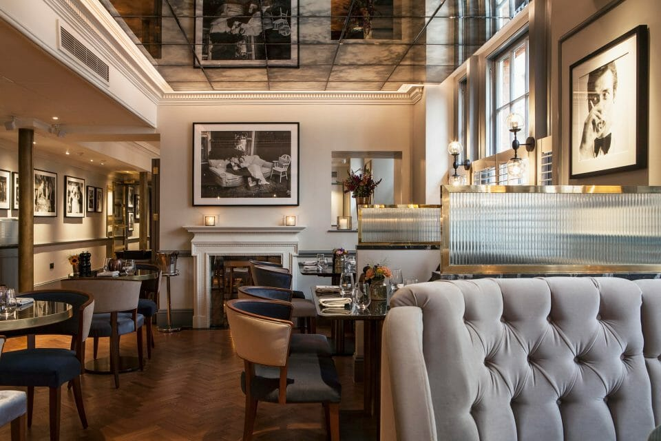 Dukes london dining room DUKES LONDON raises a glass to the late Karl Lagerfeld - EAT LOVE SAVOR International luxury lifestyle magazine, bookazines & luxury community