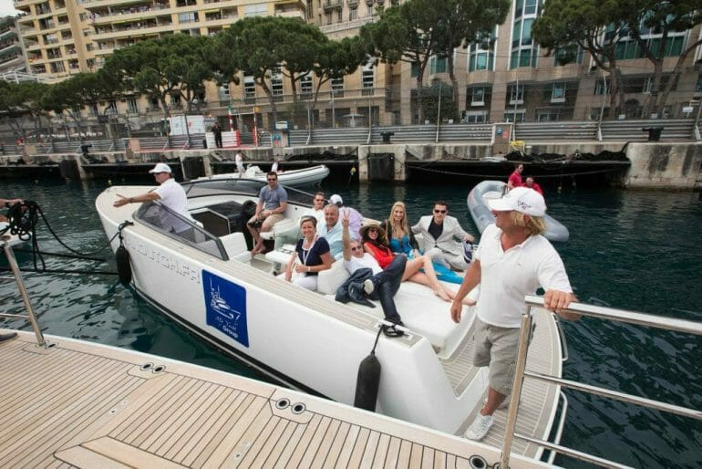 Van Dutch tender guests sml My Yacht® Group's Trackside Superyacht At The 77th Monaco Grand Prix - EAT LOVE SAVOR International luxury lifestyle magazine and bookazines