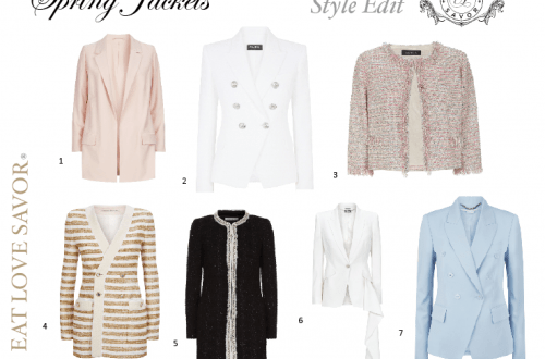 spring luxury jackets - eat love savor - luxury lifestyle magazine