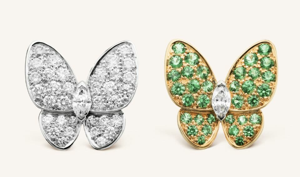 van cleep and arpels two butterflies Beautiful Things: Van Cleef & Arpels Fine Jewelry Two Butterfly Collection - EAT LOVE SAVOR International luxury lifestyle magazine, bookazines & luxury community