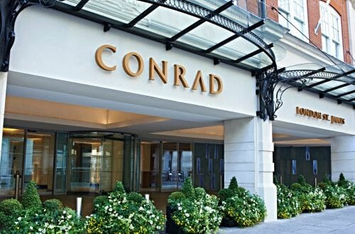 Conrad London St James Facade High Res1 Celebrate The Beginning of Summer with an incredible array of Chelsea Flower Show Cocktails at Conrad London St.James - EAT LOVE SAVOR International luxury lifestyle magazine and bookazines