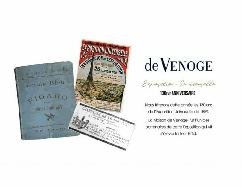 TOUR EIFFEL EXPO UNIVERSELLE Celebrating 130 Years of The Eiffel Tower with Champagne de Venoge Special Cuvee - EAT LOVE SAVOR International Luxury Lifestyle Magazine
