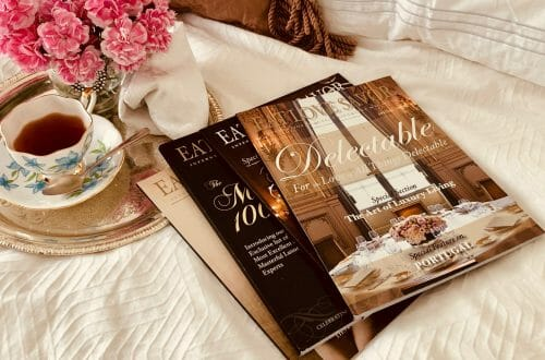 magazines on bed cropped vivid warm Letter from the Publisher: Love Before Money. Passion and Purpose in Modern Publishing: EAT LOVE SAVOR, A True Luxury Love Story - EAT LOVE SAVOR International luxury lifestyle magazine, bookazines & luxury community