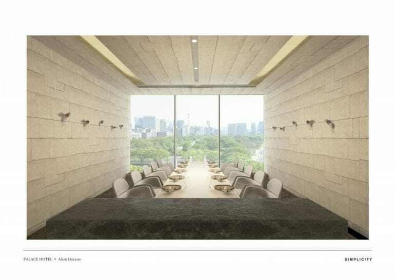ESTERRE by Alain Ducasse at Palace Hotel Tokyo RENDERING II Chef Alain Ducasse To Debut New Restaurant at Palace Hotel Tokyo - EAT LOVE SAVOR International luxury lifestyle magazine, bookazines & luxury community