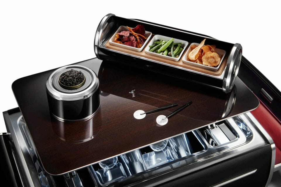 The Rolls Royce Champagne Chest detail For Epicurean Pleasures Discover the Champagne Chest by Rolls-Royce Motorcars - EAT LOVE SAVOR International luxury lifestyle magazine and bookazines