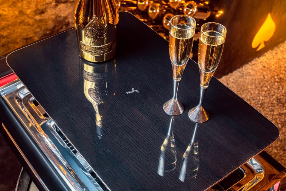 The Rolls Royce Champagne Chest with Champagne For Epicurean Pleasures Discover the Champagne Chest by Rolls-Royce Motorcars - EAT LOVE SAVOR International luxury lifestyle magazine and bookazines