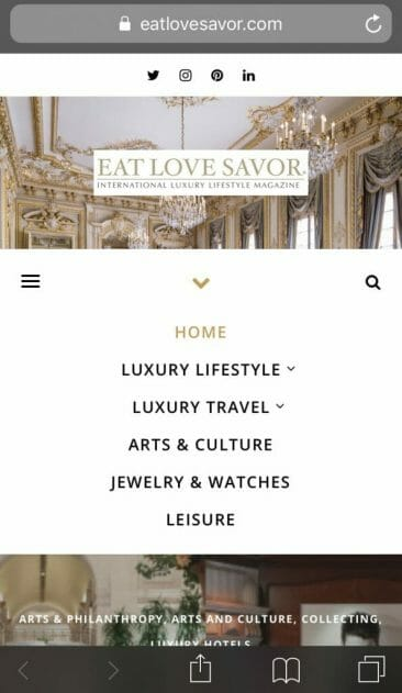 IMG 6181 2 Announcing the Relaunch of our Luxury Lifestyle Magazine Website - EAT LOVE SAVOR International luxury lifestyle magazine and bookazines