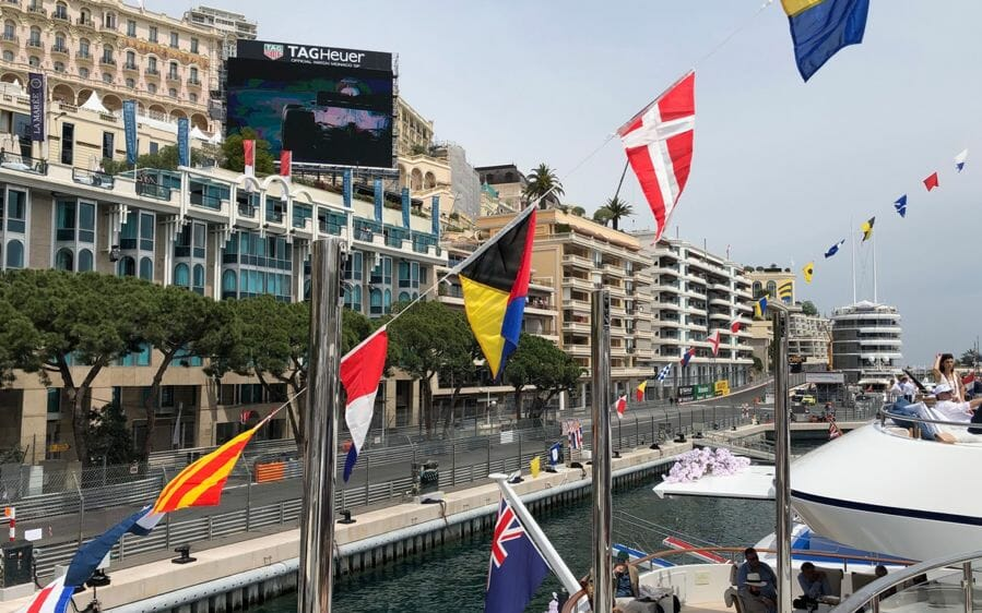 Trackside views An Out-Of-This-World Weekend at 77th Monaco F1® Weekend with Axiom Space Inc., SFJ Group, Crescent, Chateau d'Esclans, Champagne Regi & more aboard M/Y Skyfall with PA2F - EAT LOVE SAVOR International Luxury Lifestyle Magazine