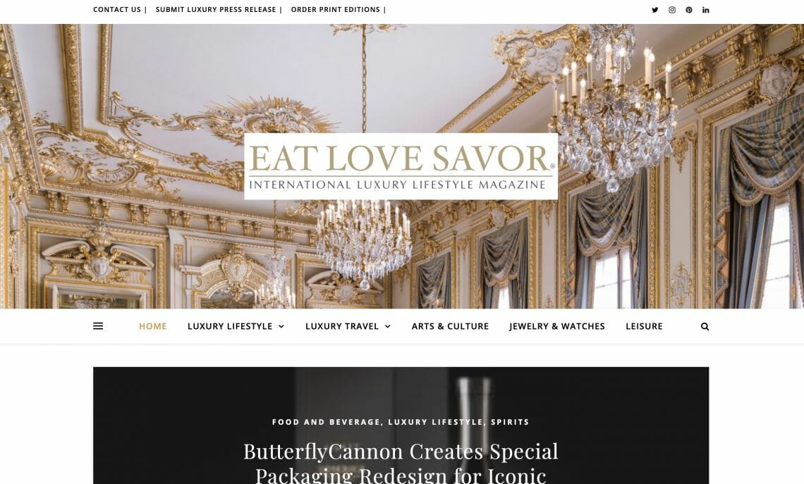 new site launch 2019 screenshot Announcing the Relaunch of our Luxury Lifestyle Magazine Website - EAT LOVE SAVOR International luxury lifestyle magazine and bookazines