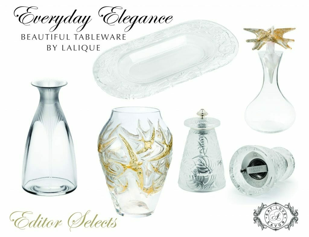 LALIQUE elegance everyday tableware Elegance and Light in Daily Dining and Entertaining with LALIQUE - EAT LOVE SAVOR International luxury lifestyle magazine and bookazines