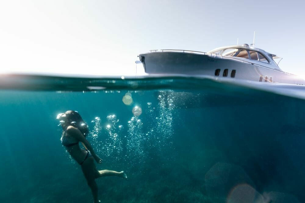 Photo by Jeff Brown for Zeelander underwater The ultimate girlfriend's getaway: From scuba diving to boutique shopping on a luxury yacht charter - EAT LOVE SAVOR International Luxury Lifestyle Magazine