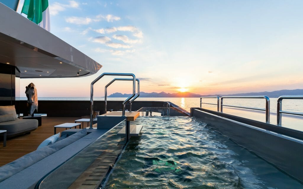 Theres no better place to chat with your girlfriends then in a Jacuzzi pool at sunset The ultimate girlfriend's getaway: From scuba diving to boutique shopping on a luxury yacht charter - EAT LOVE SAVOR International Luxury Lifestyle Magazine