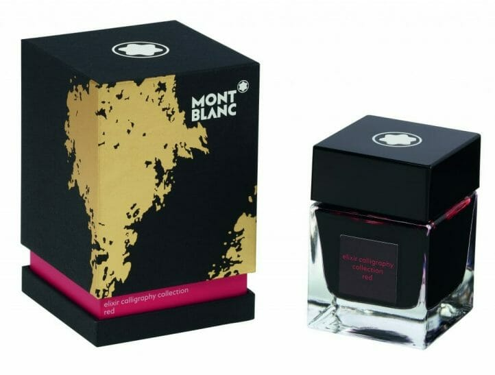119577 Ink Bottle 50 ml Elixir Calligraphy Red 1836977 The Beauty of Art, Writing and Self-Expression: Montblanc Meisterstück Calligraphy Collection - EAT LOVE SAVOR International luxury lifestyle magazine, bookazines & luxury community