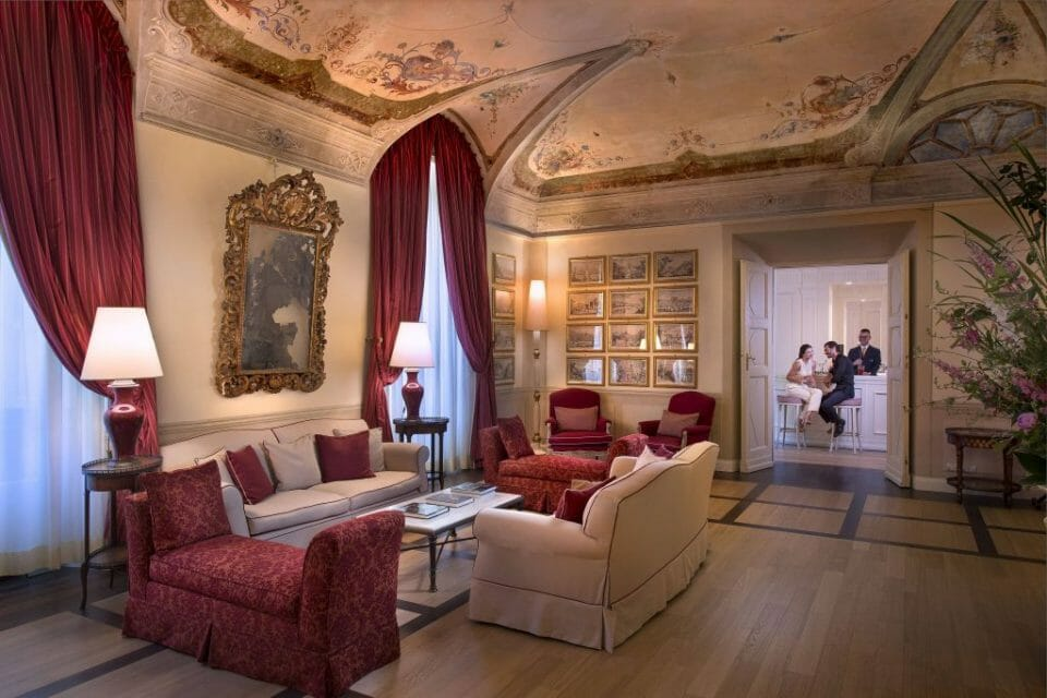 Grotta Giusti Hotel The Giusti Hall Bar Explore the Beautiful Tuscan Countryside with Truffle Hunting from Italian Hospitality Collection - EAT LOVE SAVOR International luxury lifestyle magazine and bookazines