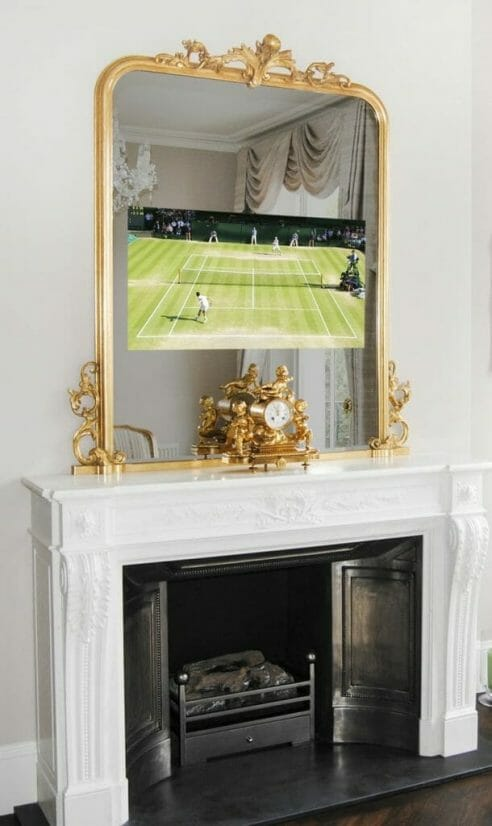 overmantels tv No51 neimier wide TV ON Gazing Through the Looking Glass: Discover Overmantels Made-to-Measure Television Mirrors - EAT LOVE SAVOR International luxury lifestyle magazine, bookazines & luxury community