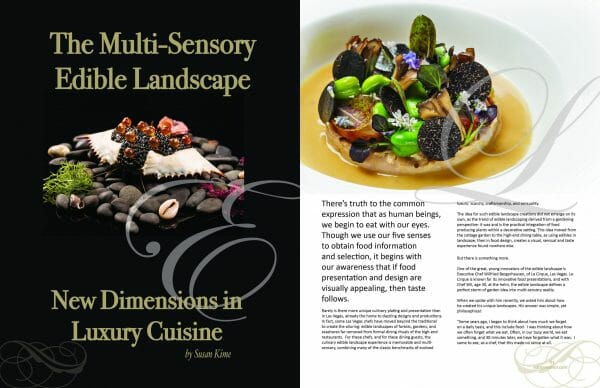 2 page spread edible landscape Delectable issue scaled Digital Edition #5 - Travel & Escape - EAT LOVE SAVOR International Luxury Lifestyle Magazine