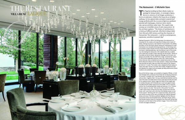 2 page spread lalique villa Delectable issue scaled Digital Edition #5 - Travel & Escape - EAT LOVE SAVOR International Luxury Lifestyle Magazine