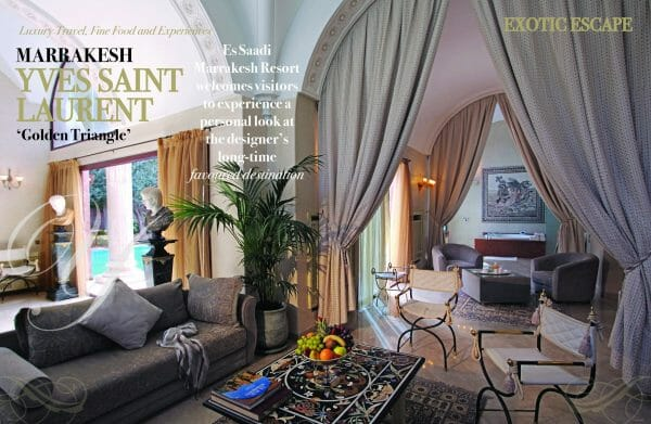 2 page spread ysl travel and escape 1 scaled Travel & Escape Special Edition Print Luxury Bookazine - EAT LOVE SAVOR International Luxury Lifestyle Magazine