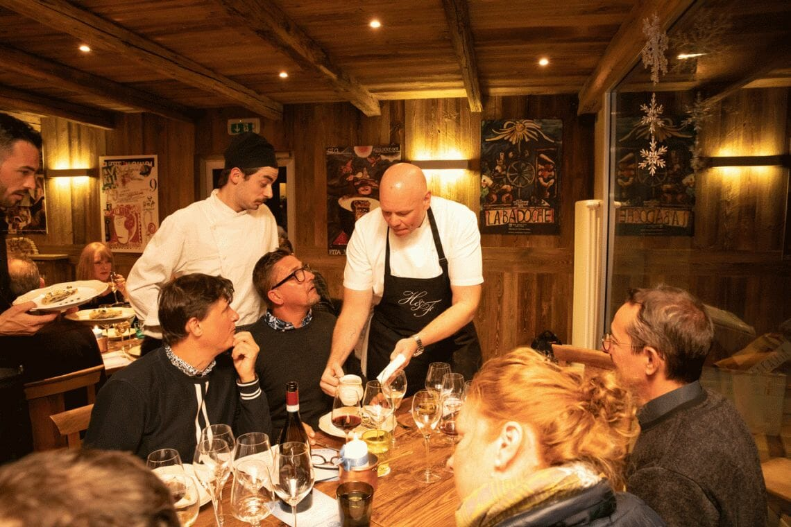 Portrait Serving taken at @lachaumiere Courmayeur Mont Blanc Hosts 7th Annual Mountain Gourmet Ski Experience - EAT LOVE SAVOR International luxury lifestyle magazine and bookazines