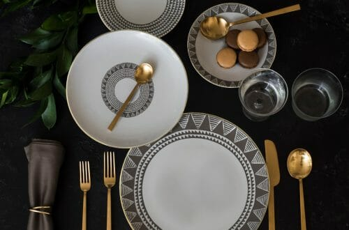 Custom Dinnerware Tribal Design Reviving the 18th Century Aristocratic Custom of High-end Custom Made Dinnerware - EAT LOVE SAVOR International luxury lifestyle magazine, bookazines & luxury community